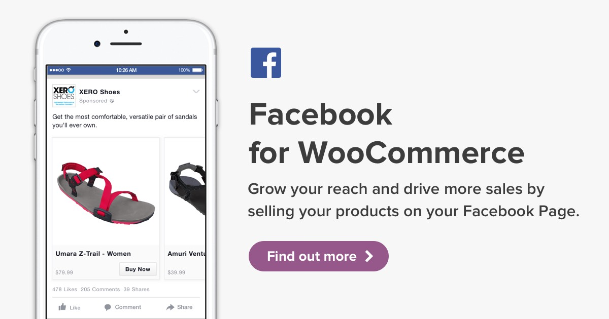 Facebook for WooCommerce Banner