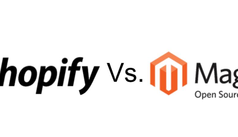 Shopify vs Magento Header