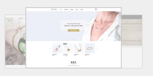 Wix Theme - Jewelry Niche
