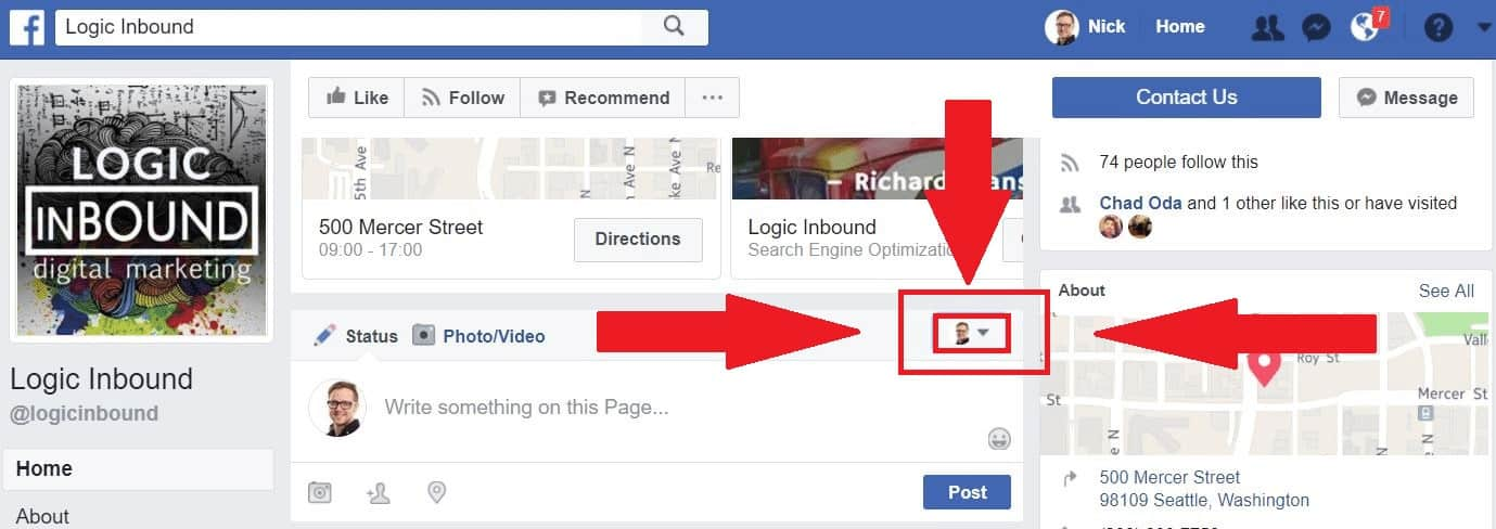 Facebook How to Use as Page