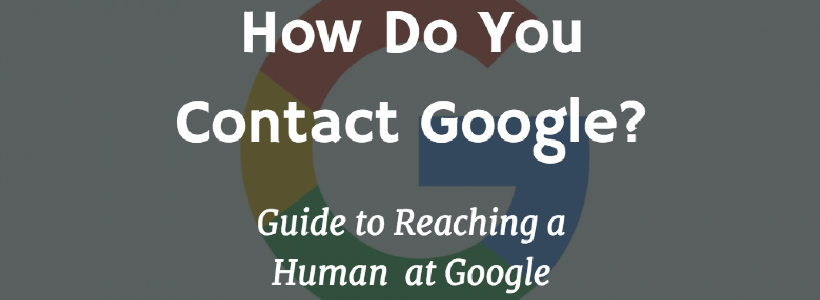how to contact google support