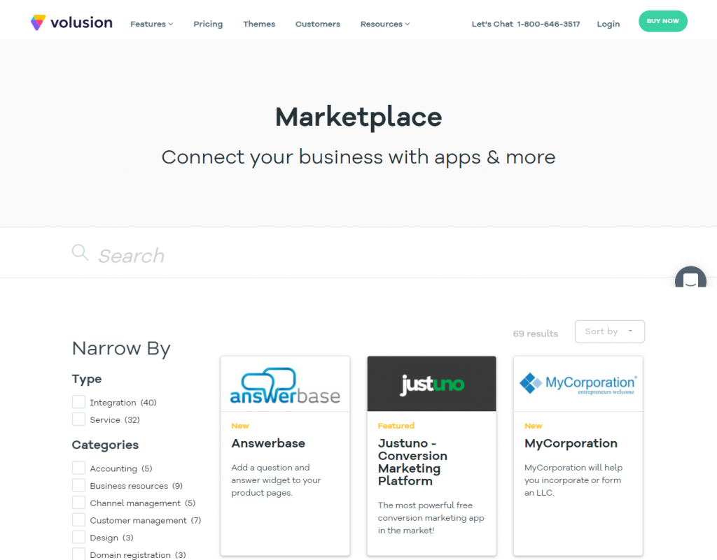 The Volusion Marketplace