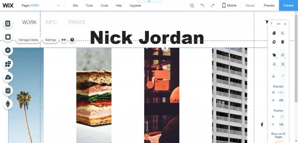 wix site editor