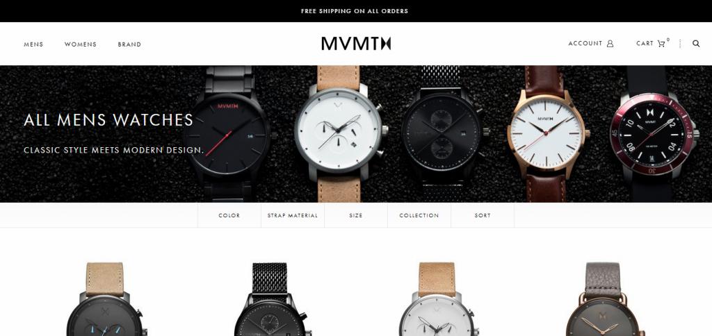 mvmt shopify plus store