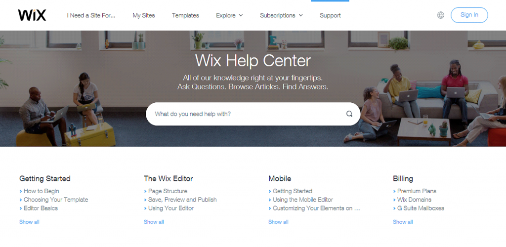 Wix Customer Support