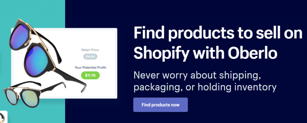 shopify vs squarespace - shopify oberlo dropshipping
