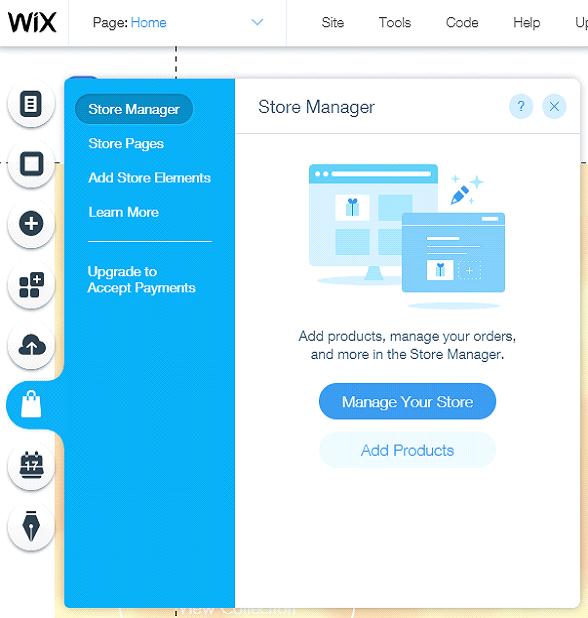 wix ecommerce dashboard