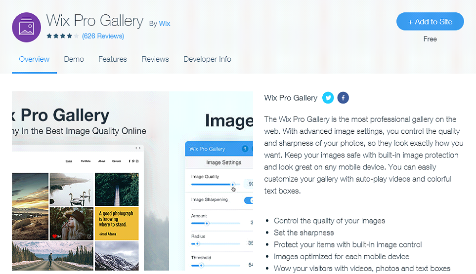 Wix Pro Gallery