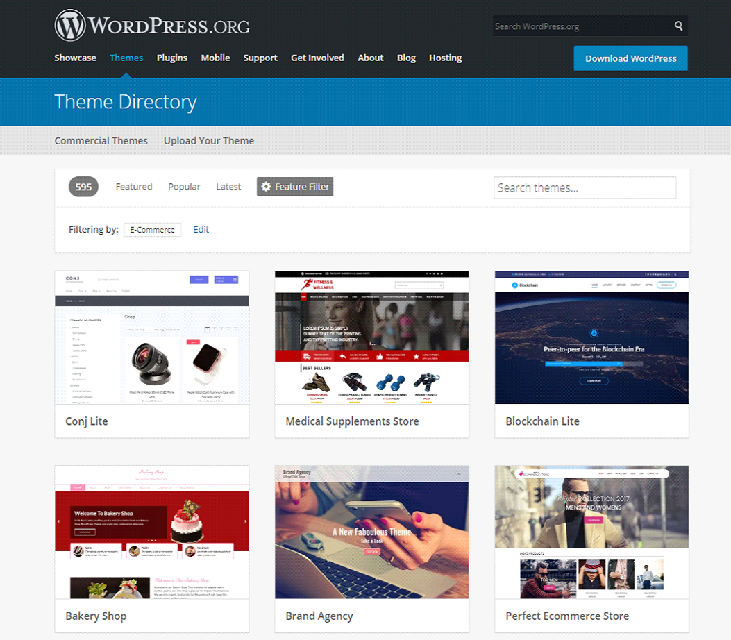 Wordpress theme store
