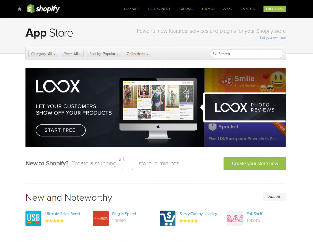 shopify vs squarespace on shopify app store