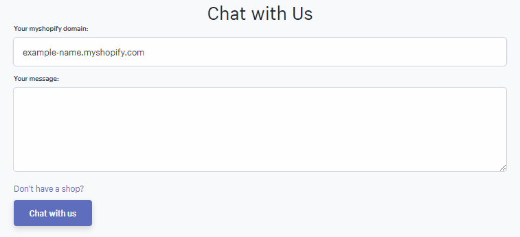 shopify live chat
