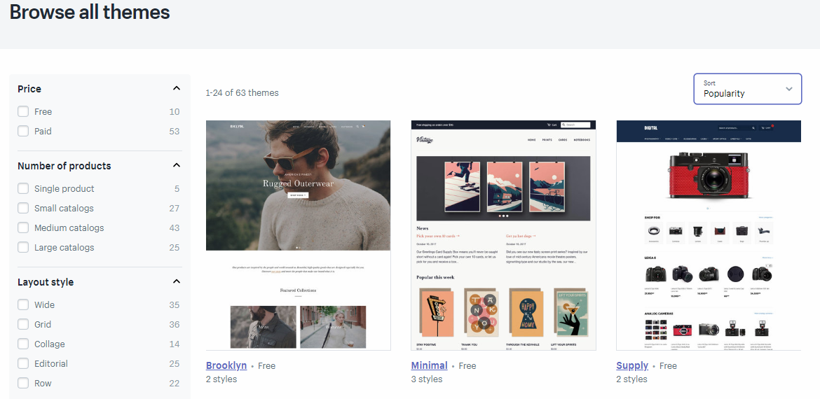 browse all themes