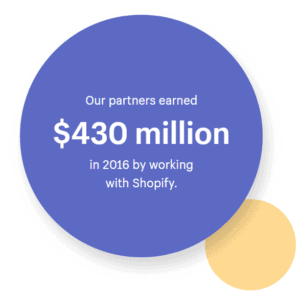 shopify partners income