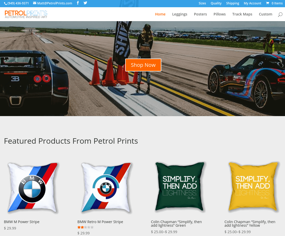 Petrol Prints Home Page