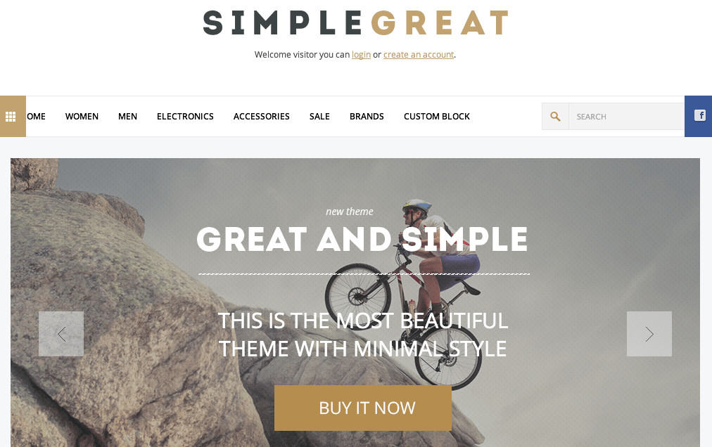 simplegreat magento theme
