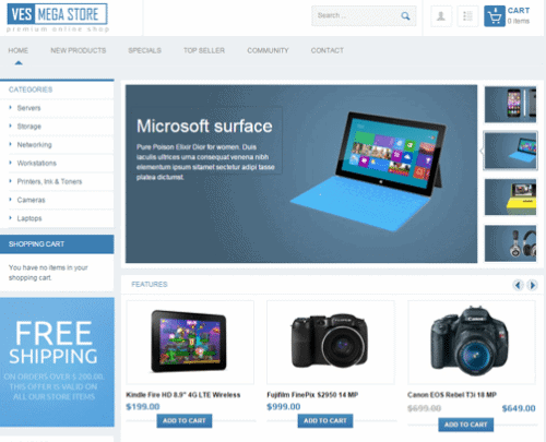 magento enterprise theme