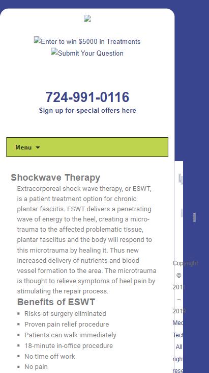 Mobile screenshot of the old Sound Med Tech website